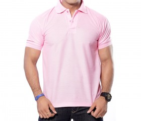 Pink Solid Polo