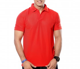 Red Solid Polo