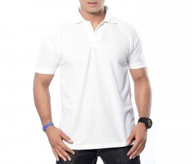 White Solid Polo