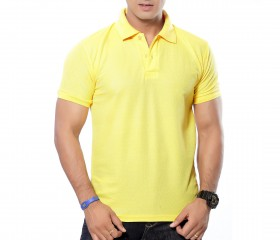 Yellow Solid Polo