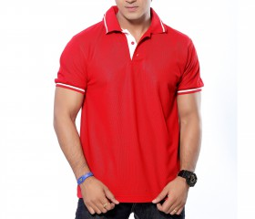 Red Patterned Polo