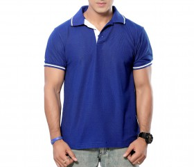 RoyalBlue Patterned Polo