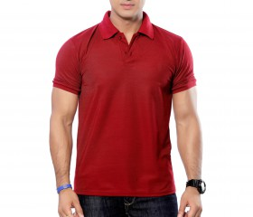 Maroon Solid Polo