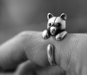 Animal Wrapped Ring – Bear