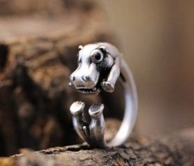 Animal Wrapped Ring – Hippo