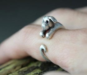Animal Wrapped Ring – Puppy