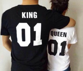 *Couple Tees -King 01 and Queen 01*