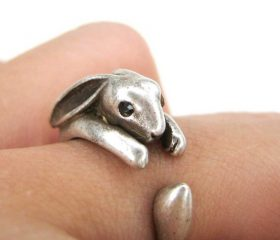 Animal Wrapped Ring – Bunny