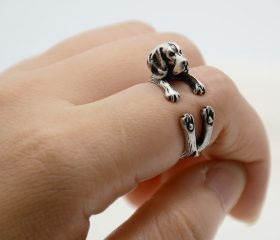 Animal Wrapped Ring – Beagle Puppy
