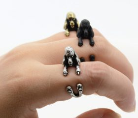 Animal Wrapped Ring – French Poodle Puppy
