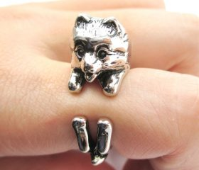 Animal Wrapped Ring – Pomeranian Puppy