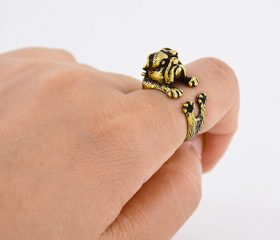Animal Wrapped Ring – English Bulldog