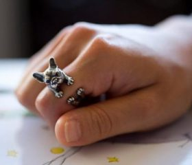 Animal Wrapped Ring – French BullDog