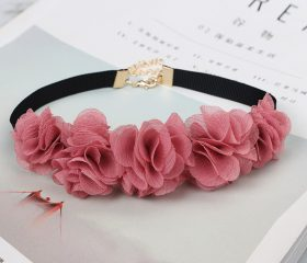 Flower Lace Ribbon Choker