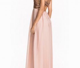 Strapless Yule Glittering SequinedBandeau Dress